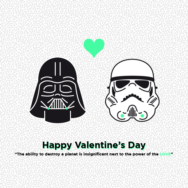 Star Wars Valentines Day Fabio Pistoia – Star Wars Valentines Day Cards